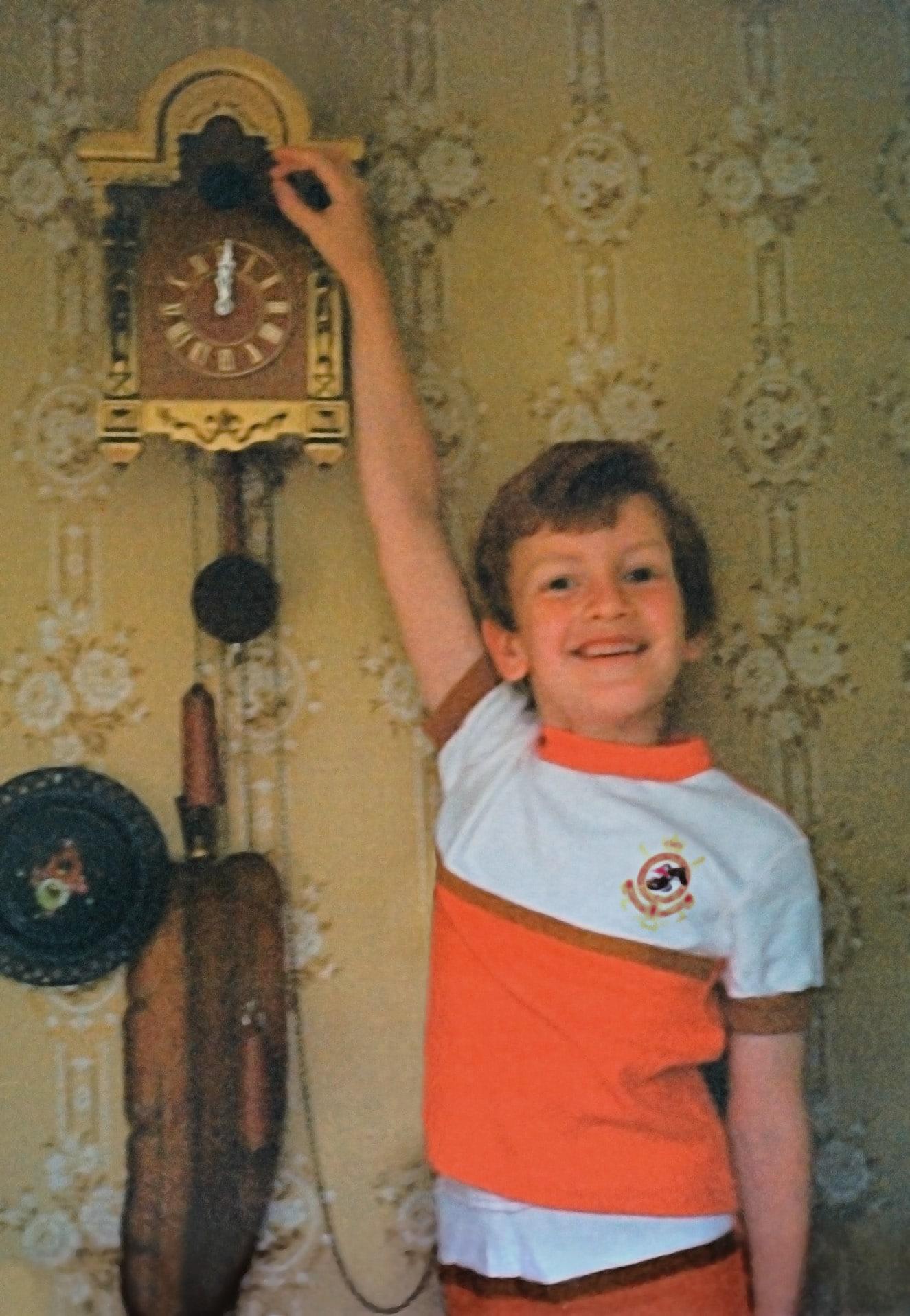 Александр Белов в детстве
