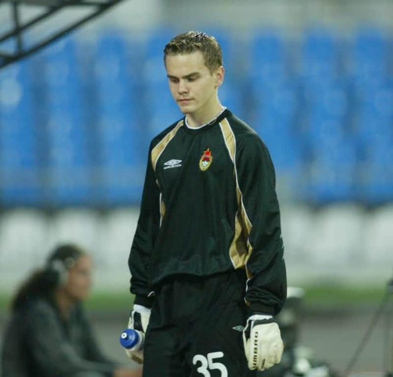 Игорь Акинфеев в начале футбольной карьеры