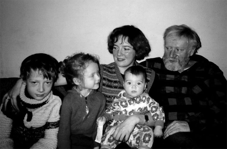 Кир Булычев с семьей
