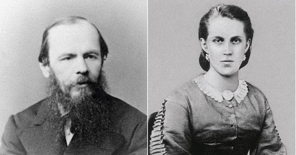Федор Достоевский с Анной Сниткиной