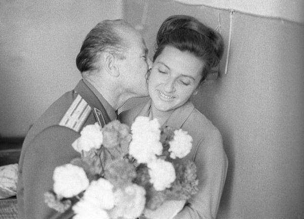 Алексей Леонов с женой Светланой Даценко