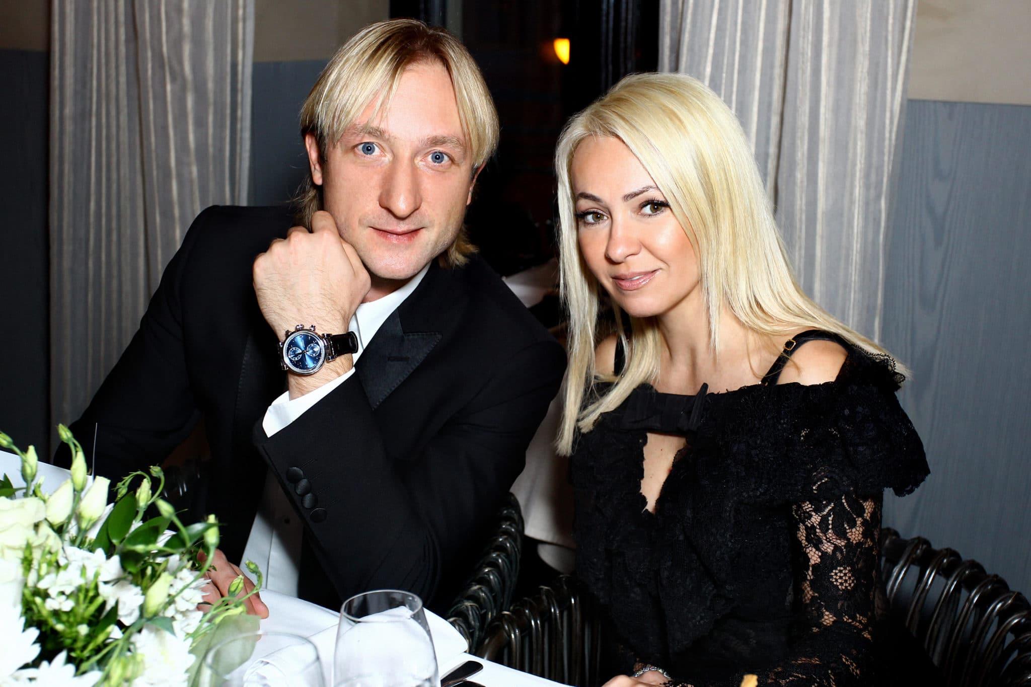 Евгений Плющенко с женой Яной Рудковской