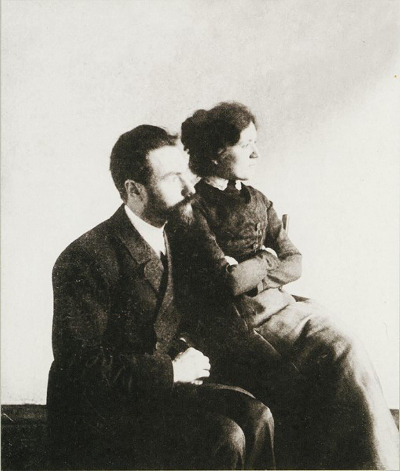 Валерий Брюсов с Иоанной Рунт