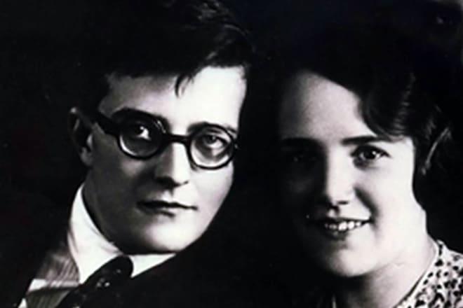 Дмитрий Шостакович с Ниной Вазар