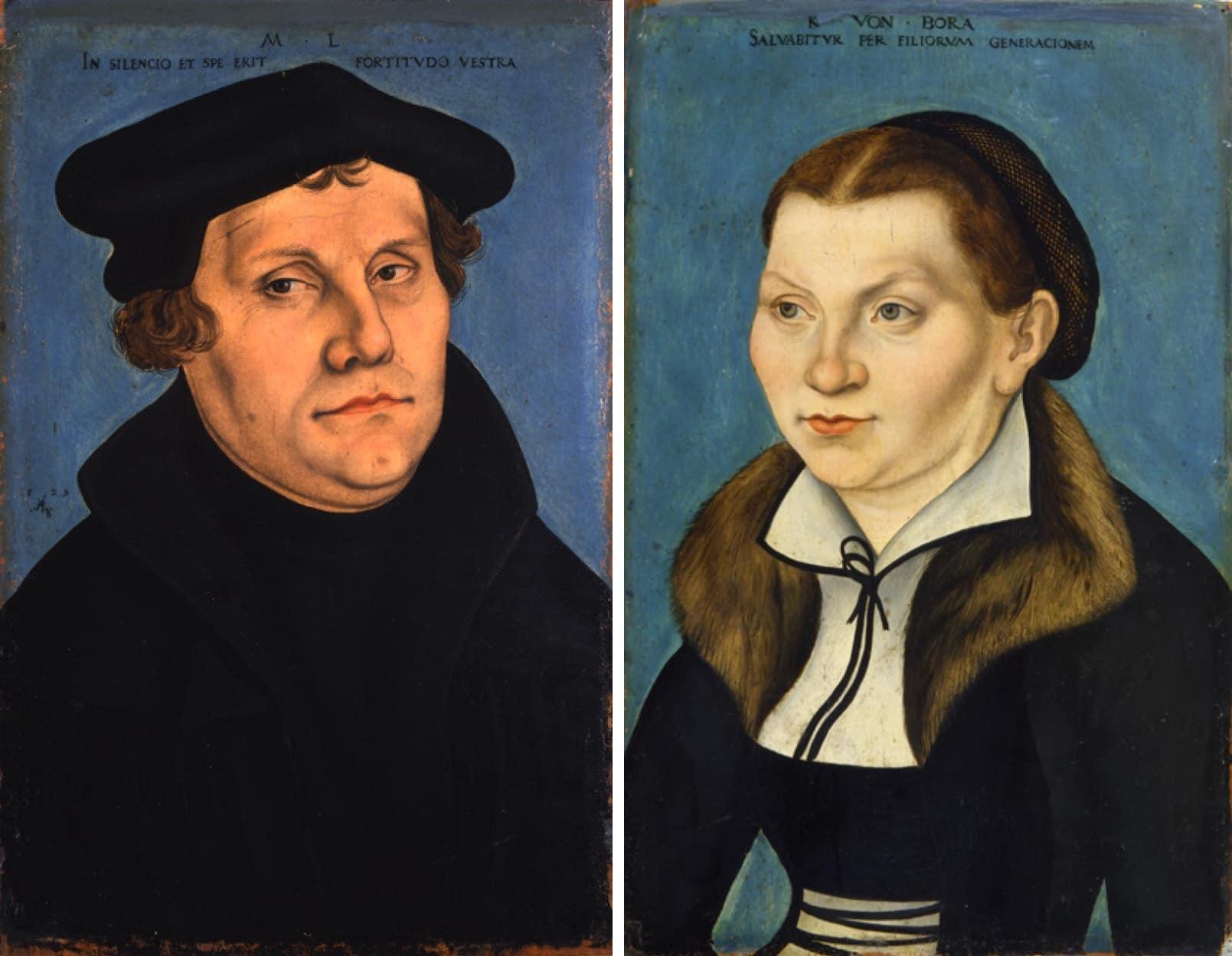 Портрет Мартина Лютера и его жены
