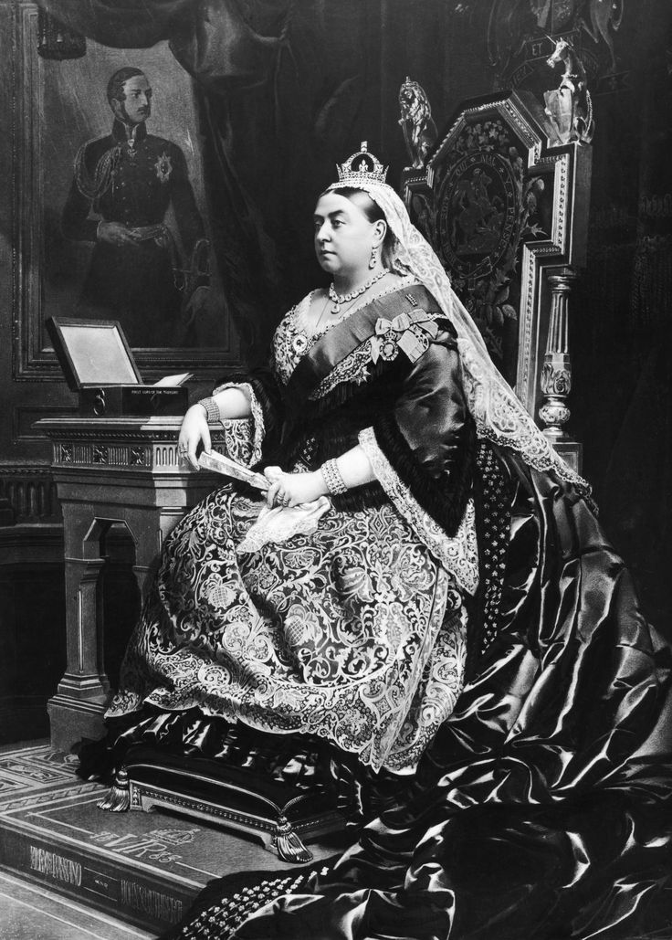 Королева Виктория на престоле