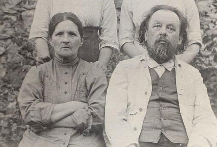 Константин Циолковский с женой Варварой
