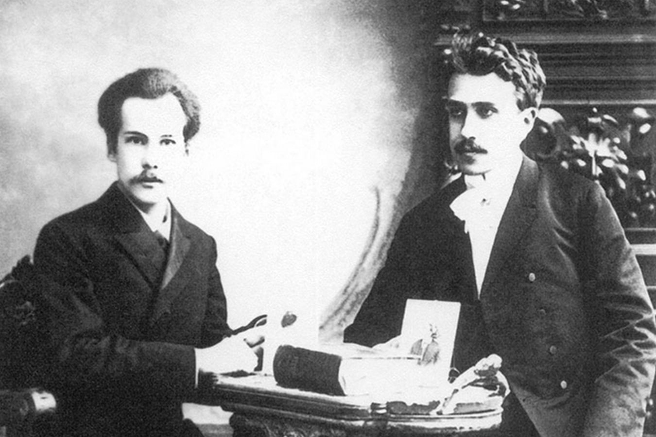 Андрей Белый с Сергеем Соловьевым