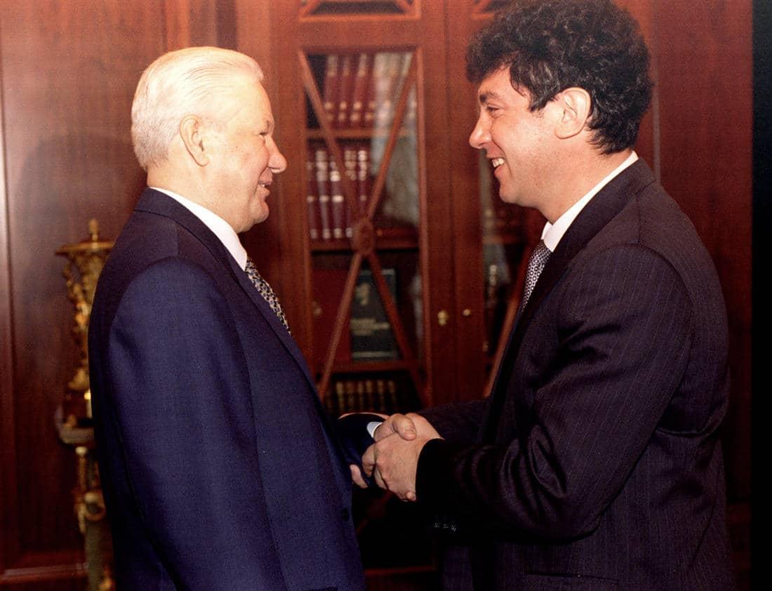 Борис Немцов с Ельциным