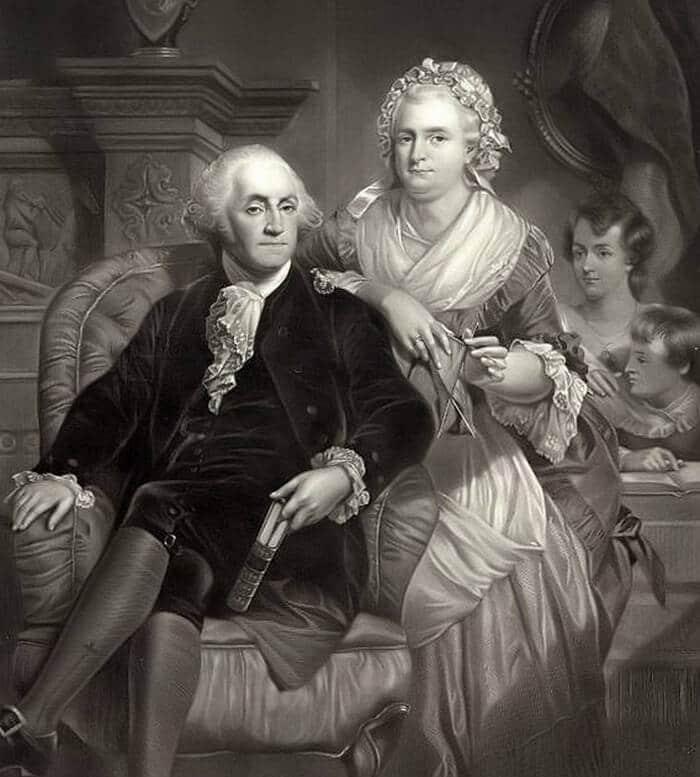 Джордж Вашингтон с женой Мартой Кастис