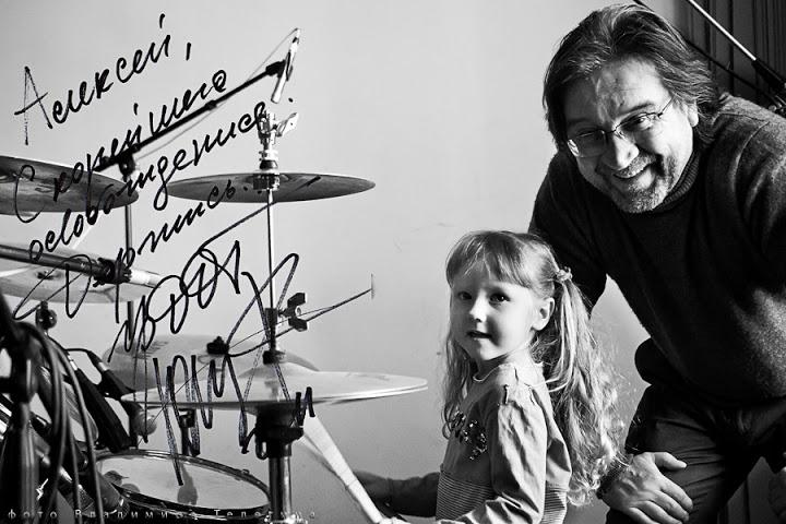 Юрий Шевчук с дочкой
