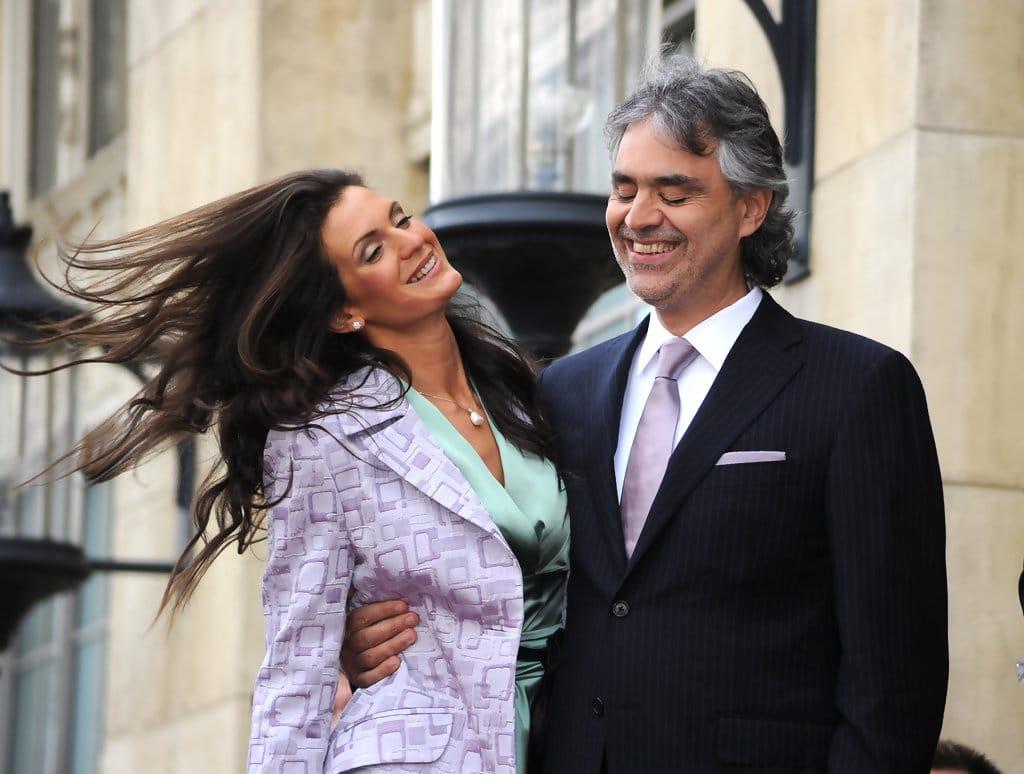 Андреа Бочелли с Вероникой Берти