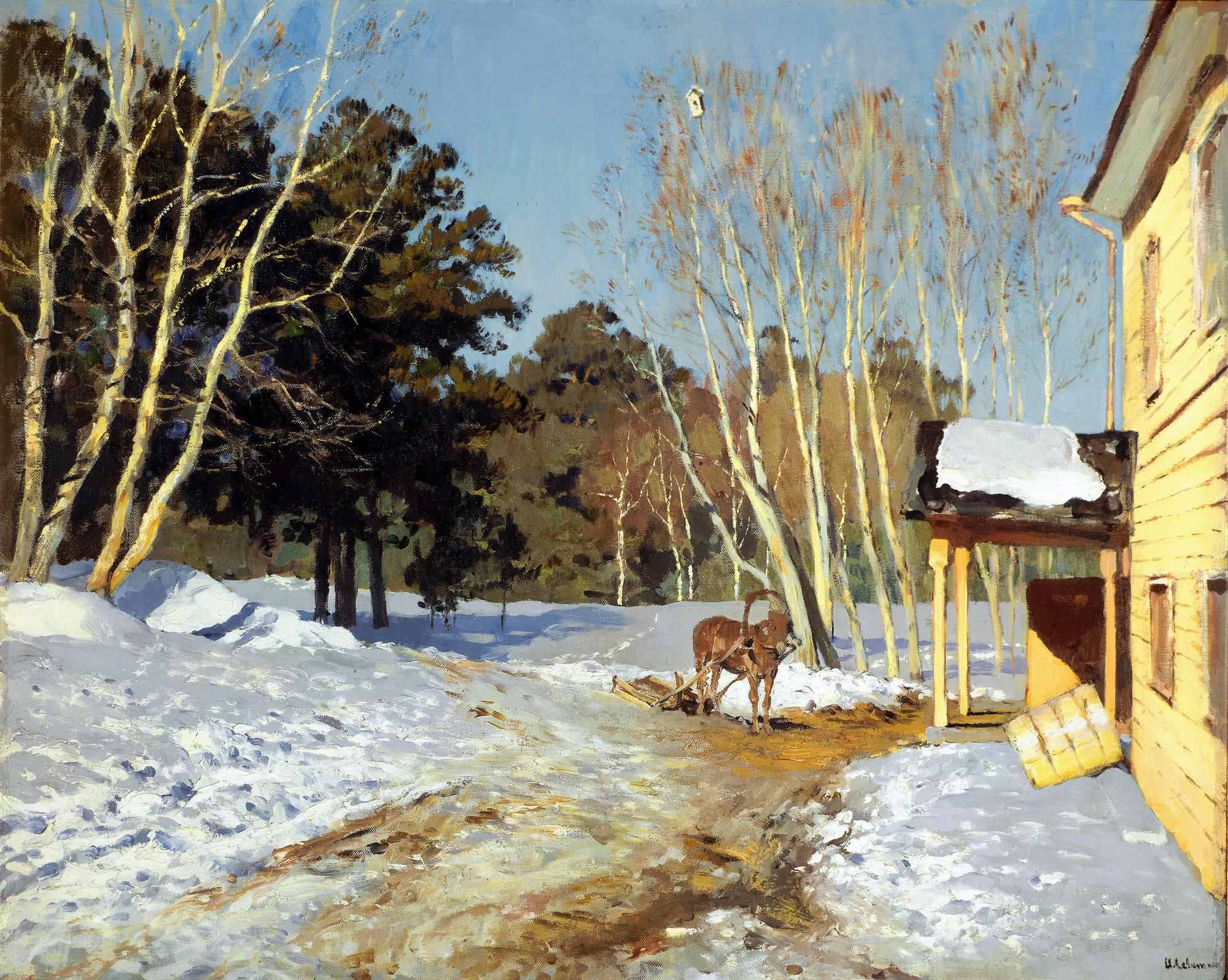 Картина Левитана «Март»