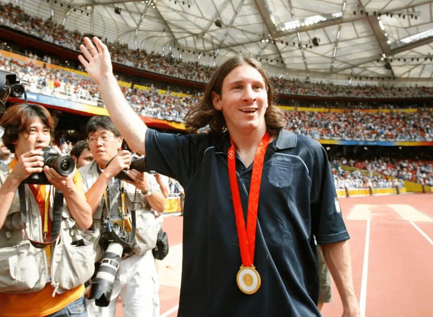 Лионель Месси на Олимпиаде 2008