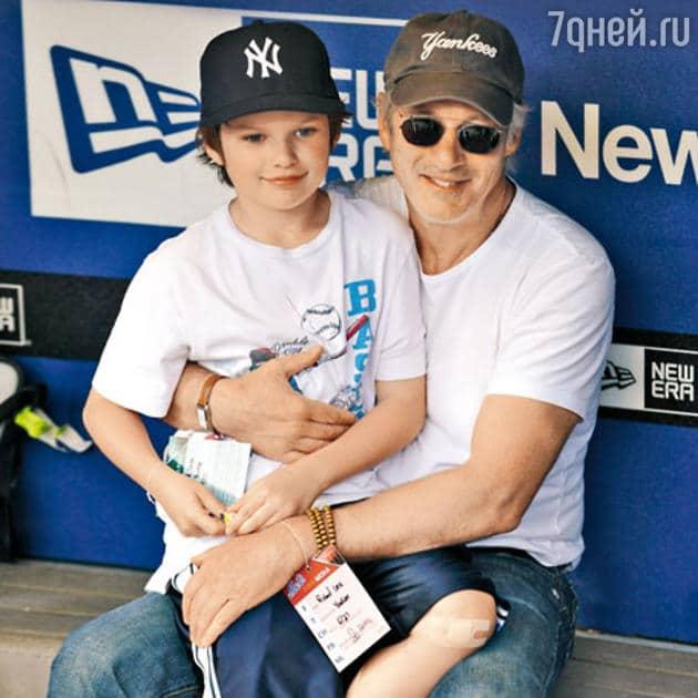Ричард Гир с сыном
