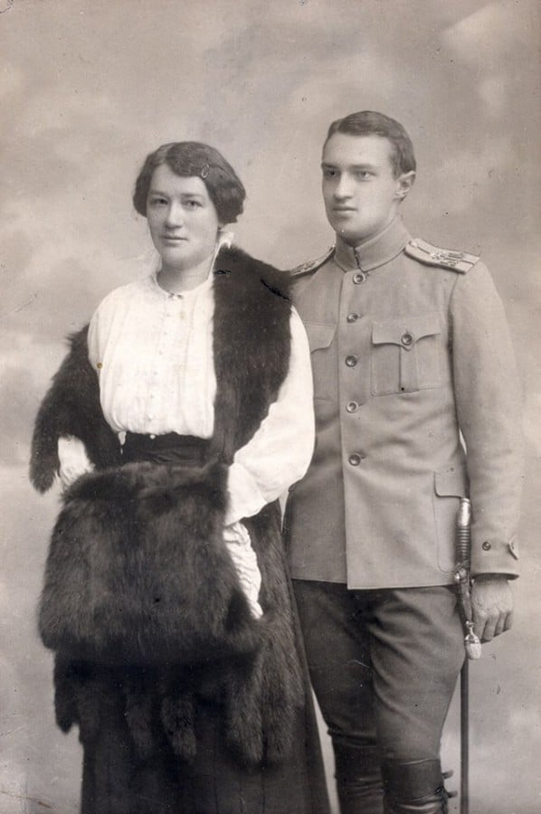 Иван Шмелев и его жена Ольга Охтерлони