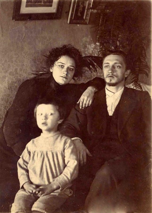 Иван Шмелев с женой и сыном