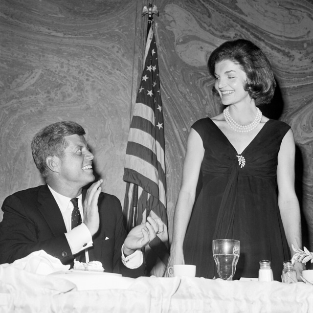 Первая леди Жаклин Кеннеди с Джоном Кеннеди
