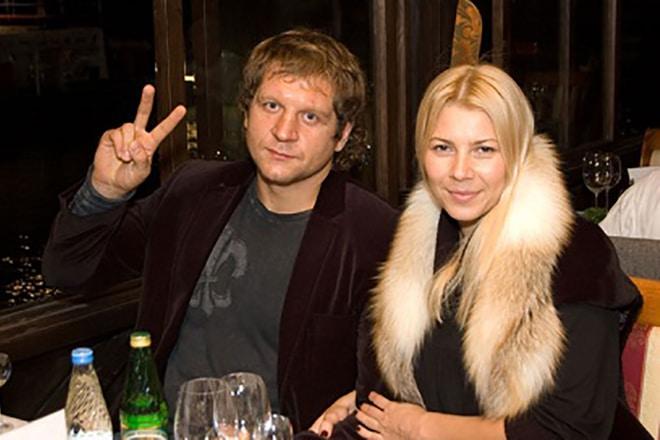 Александр Емельяненко с женой Ольгой Гороховой