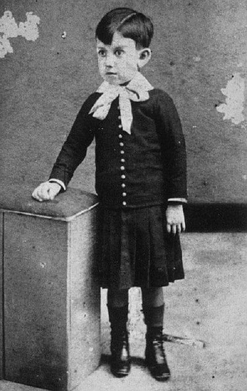 Пабло Пикассо в детстве