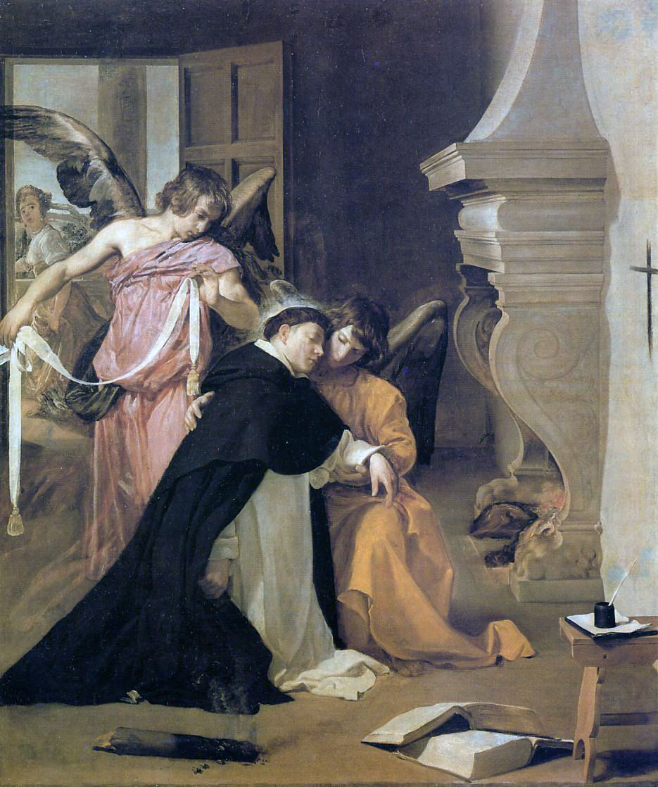 Картина  Диего Веласкес «Искушение святого Фомы Аквинского»