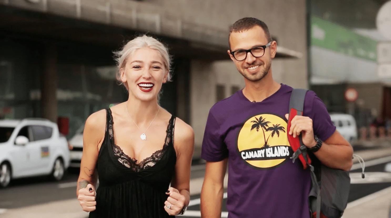Ведущие «Орел и решка» Антон Птушкин с Настей Ивлеевой