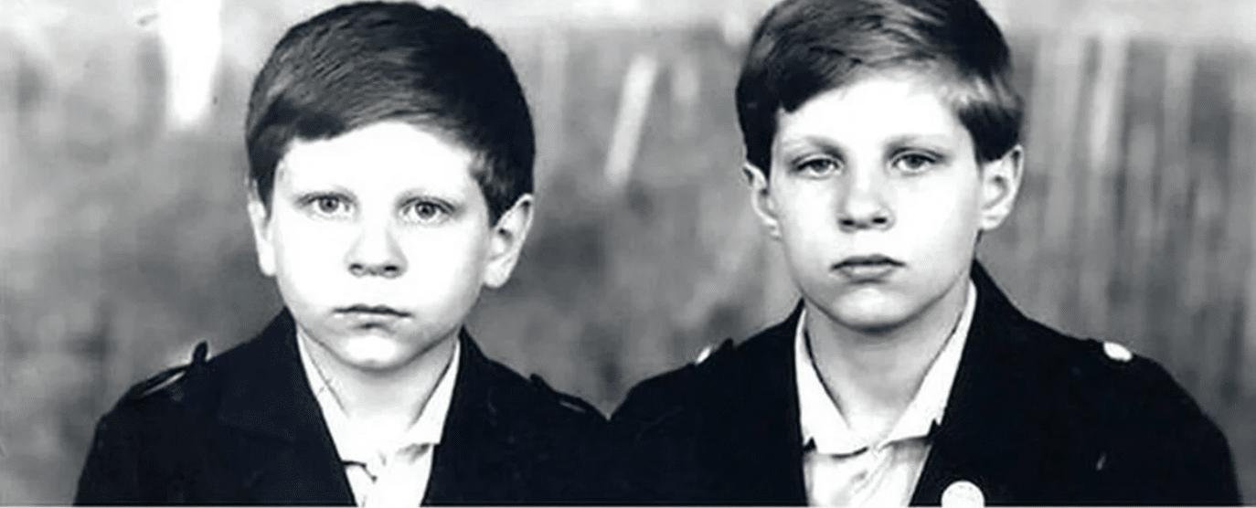 Александр и Федор Емельяненко в детстве