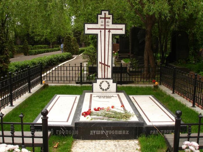 Могила Галины Вишневской