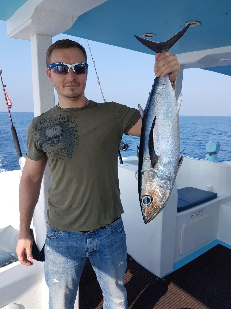 Александр Мамченко на рыбалке