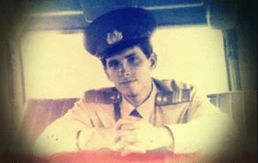 Молодой Андрей Малышев на службе в милиции
