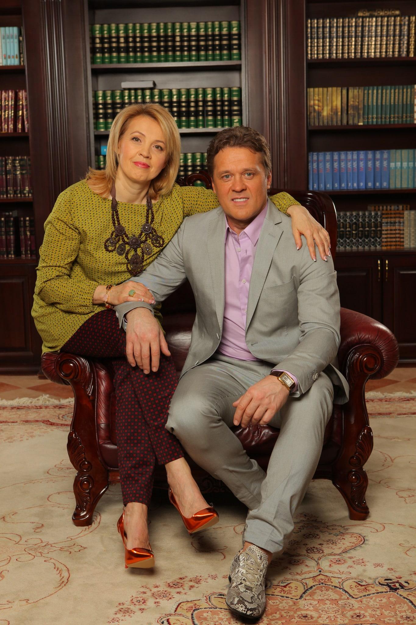 Сергей Любавин с женой Еленой